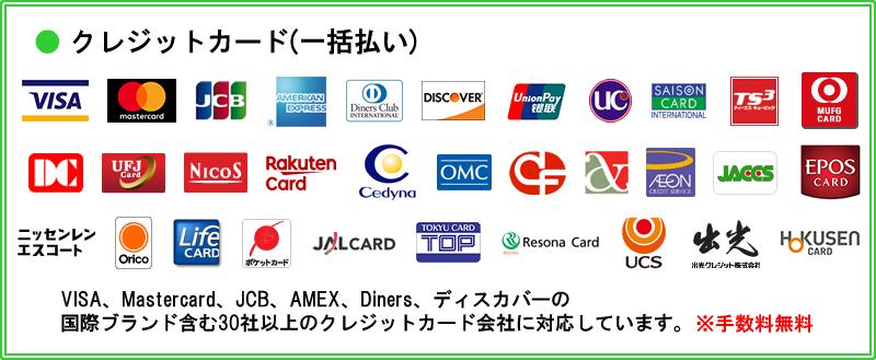 クレジットカード で支払う場合の決済できる会社