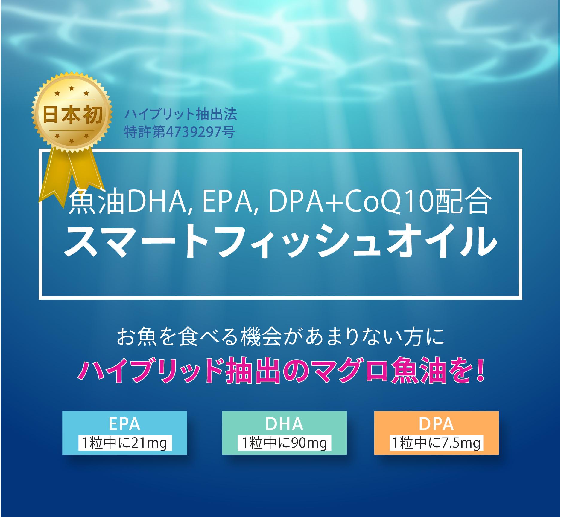 スマートフィッシュオイルのDHA・EPA・DPAの含有量